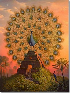 Sacred.Bird.of.Yucatan.circle,bird,mythical,painting,peacock,phoenix-cbb29eea4de4a0f4c26b89d545622540_h