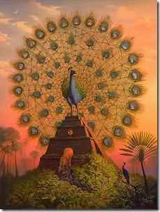 Sacred.Bird.of.Yucatan.circle,bird,mythical,painting,peacock,phoenix-cbb29eea4de4a0f4c26b89d545622540_h