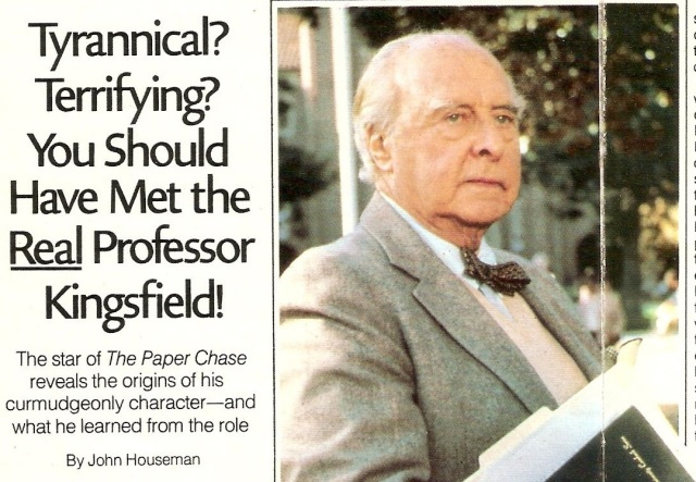 John Houseman as Prof. Kingsfield